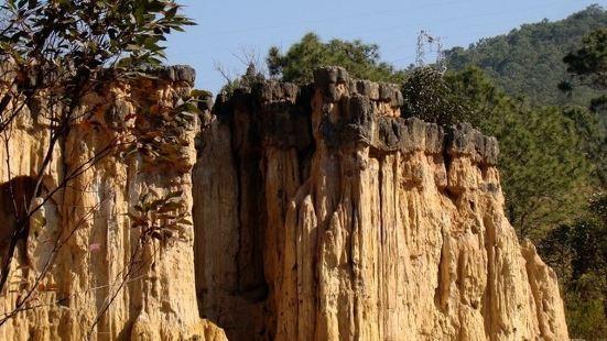 黄联土林是发育在一套冰水冻融泥石流堆积体之上的地貌景观,土林