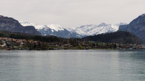 布里恩茨湖和图恩湖分别在因特拉肯小镇两段。这个地区风光格外漂