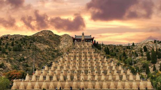 到青铜峡景区108塔是必看的一处景观,塔群建于西夏时期,是中