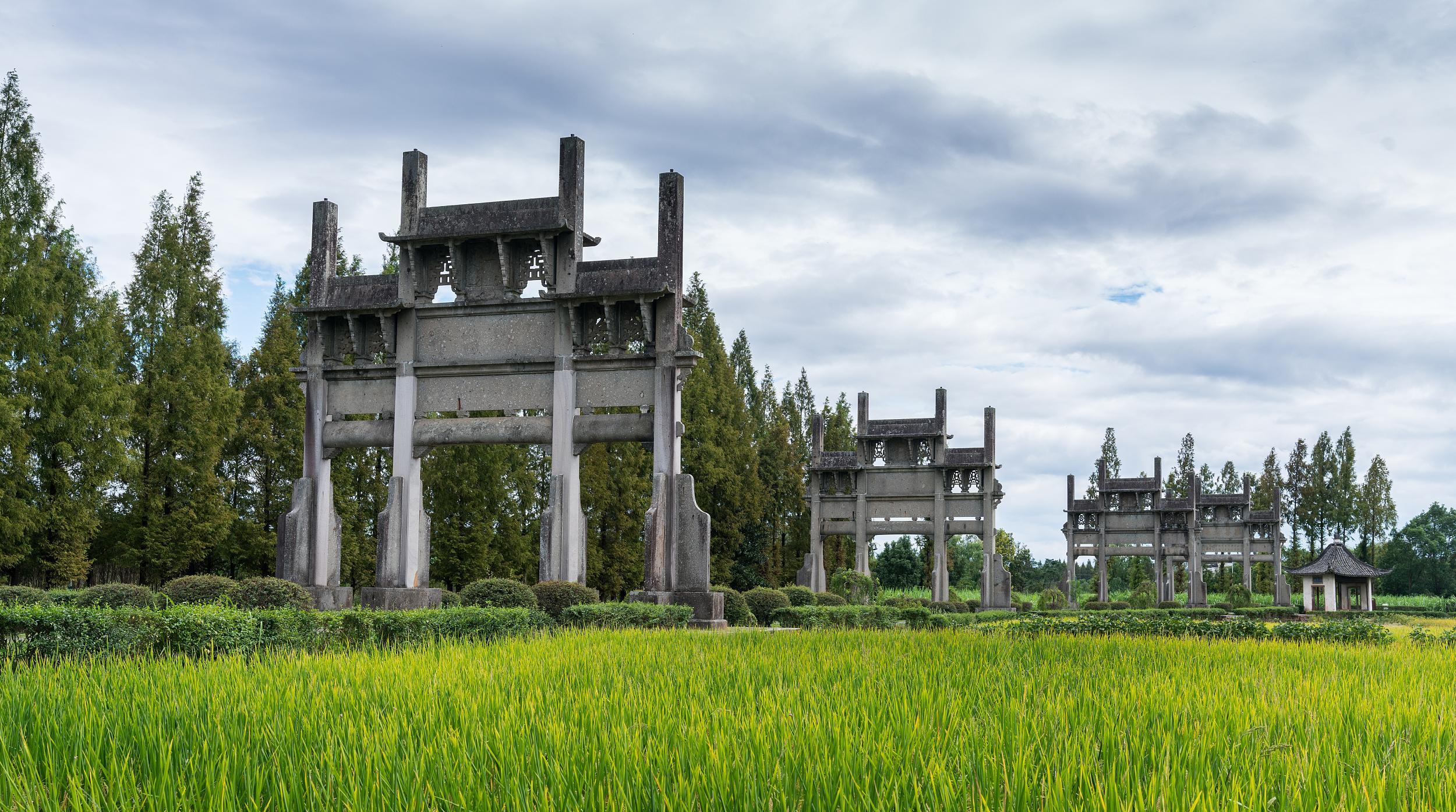 棠樾牌坊群鮑家花園