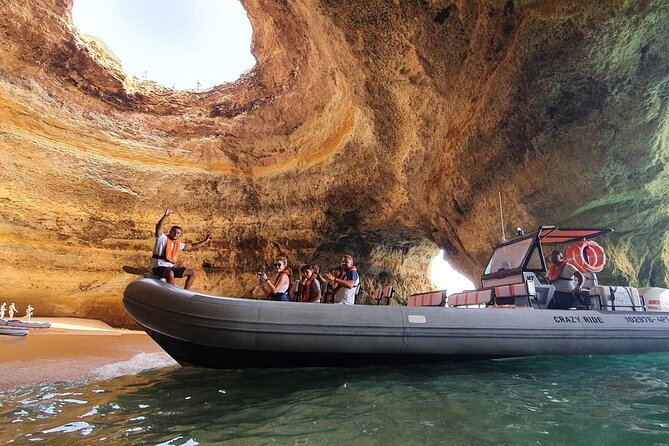 Fast Adventure to the Benagil Caves on a Speedboat - Starting at Lagos
