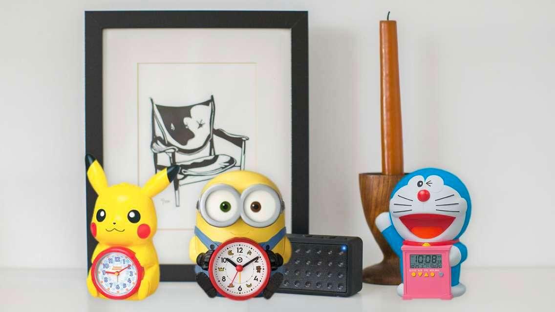 【日本直送】 Minions/比卡超/多啦A夢/Hello Kitty卡通造型鬧鐘(SEIKO 精工 及 Rhythm Watch )