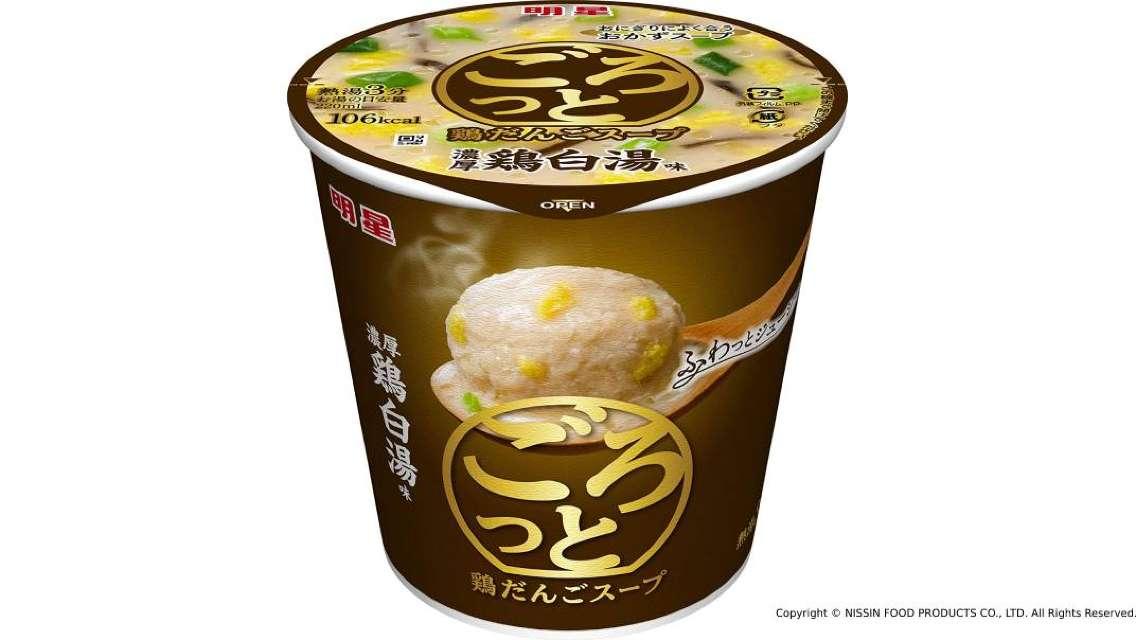 【日本直送 快便快捷美味】日清食品明星雞肉丸湯 - 濃厚雞白湯味(6個)