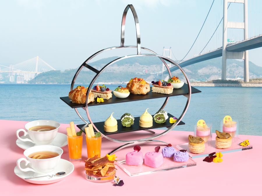 香港挪亞方舟豐盛閣餐廳花語 · 春日海景雙人下午茶 (85折優惠)