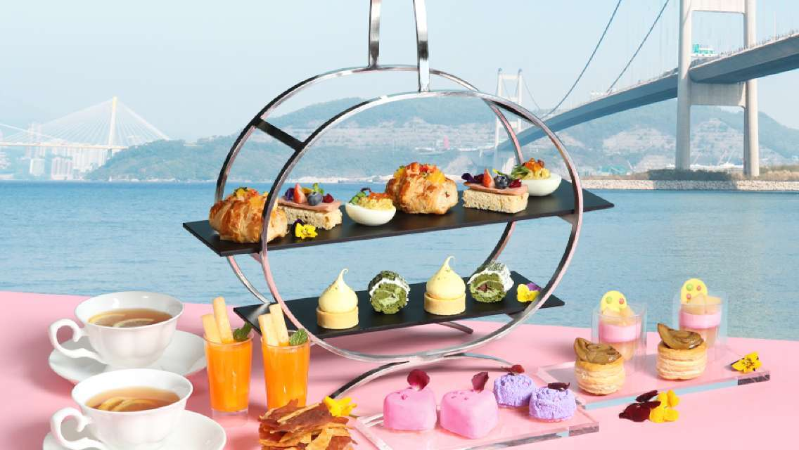 "Noah's Ark Hotel & Resort ""Harvest Restaurant"" Spring Blossom Seaview Afternoon Tea Set for 2 (Up to 15% off)"
