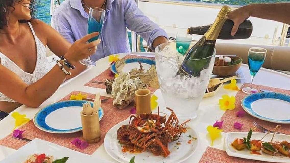 Private Luxury Catamaran Cruise in St. Lucia