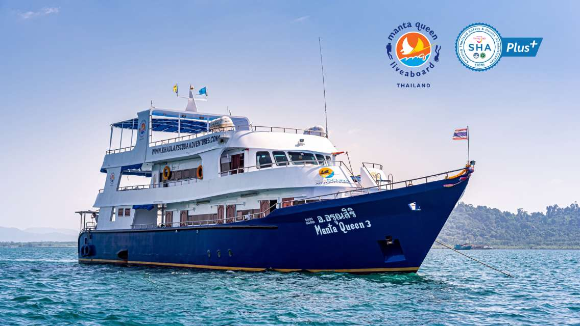 [Manta Queen 3 Liveaboard 5 Days/4 Nights] Phi Phi Islands, Koh Lipe, Koh Lanta, Phuket (Licensed Diving/Scuba)