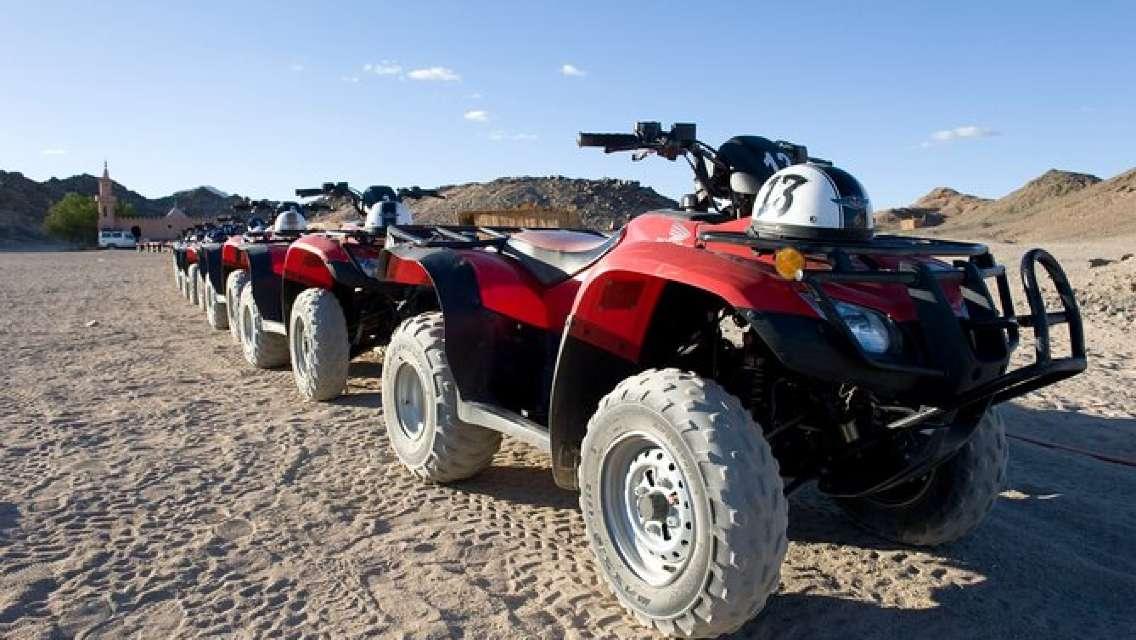 3 Hours ATV Safari & Camel Ried & S Hours Semi-submarine & Parachute - Hurghada