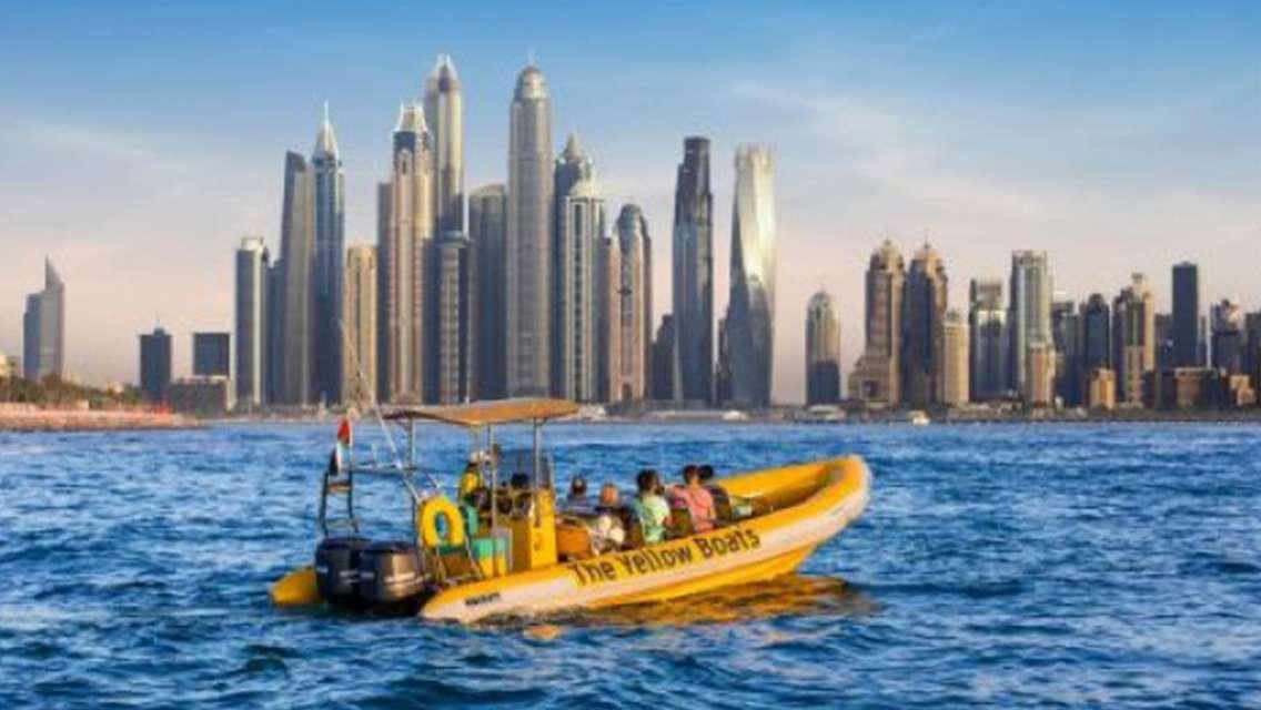 The Yellow Boats 60 Minutes Dubai Marina Tour - Dubai