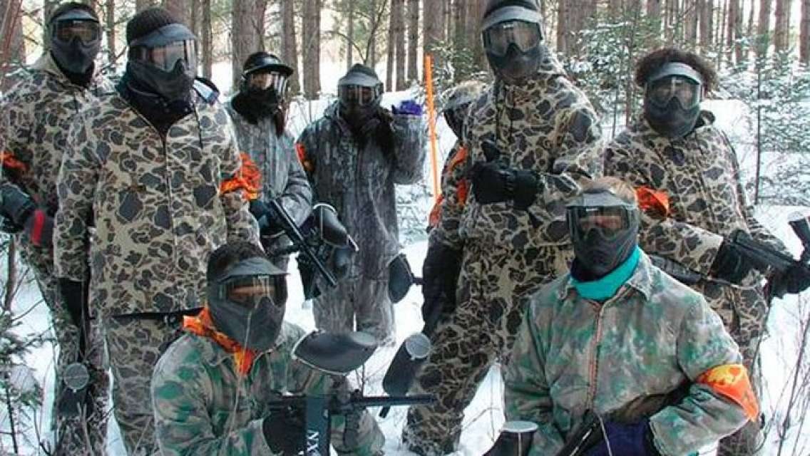 Paintball Activity in Barkmere, Quebec, Canada