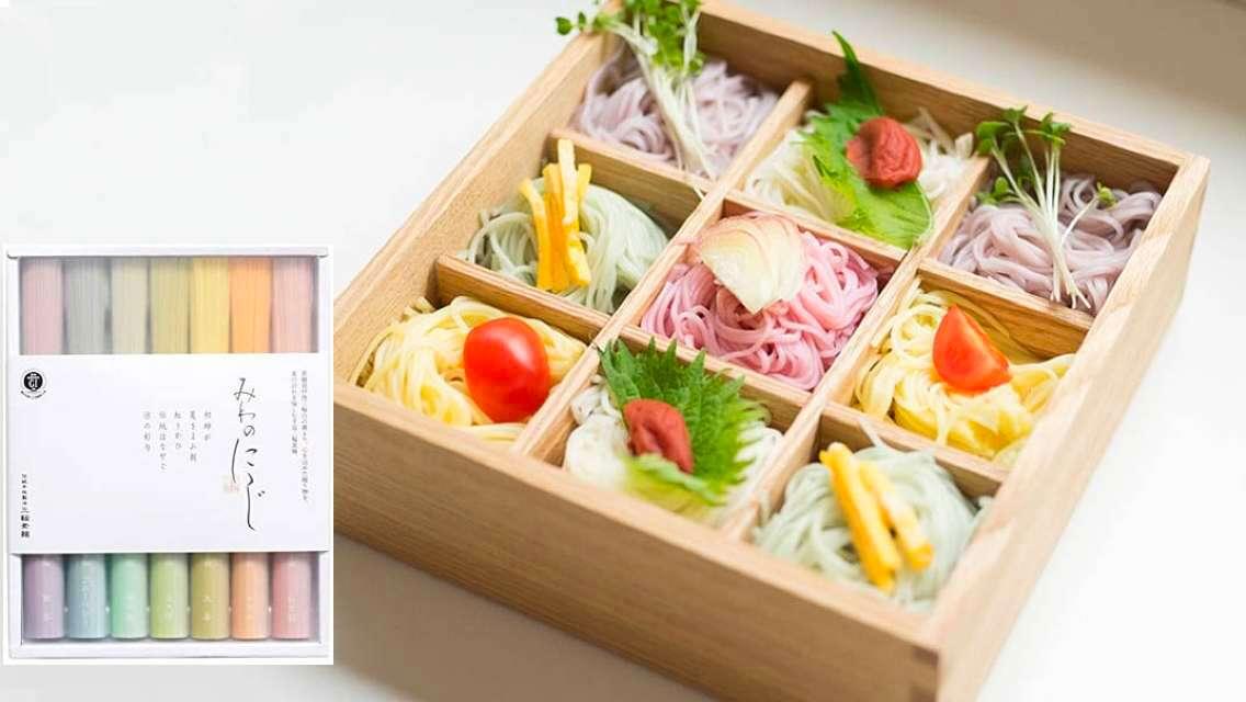 【日本直送】三輪素麵小西 七色彩虹素麵