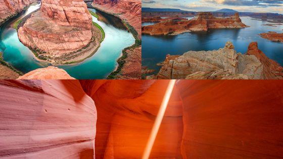 ラスベガス発・絶景のアンテロープキャニオン+ホースシューベント プライベートツアー