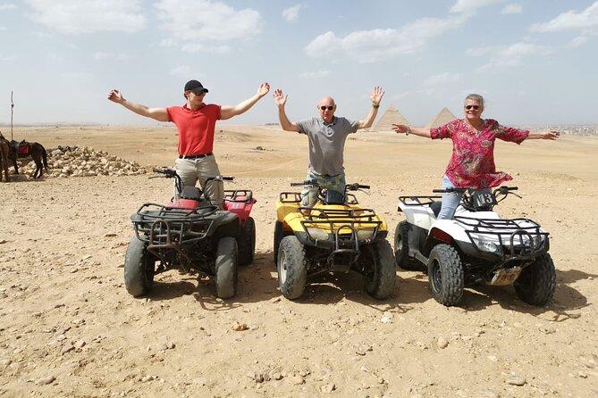 4-hours private tour Giza Pyramids , ATV Quad Bike Ride -and Camel Ride