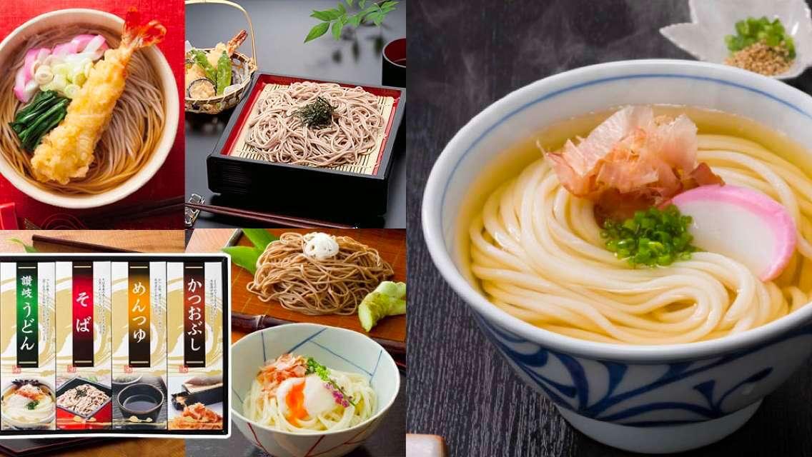 【日本直送】石丸製麵 讚岐烏冬及蕎麥麵及湯汁及鰹魚片套裝