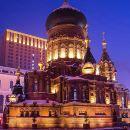 聖索菲亞大教堂+冰雪大世界+俄羅斯風情小鎮+太陽島+中央大街+網紅玻璃橋一日遊