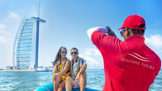 Speedboat Tour: Marina, Atlantis, Palm & Burj Al Arab...