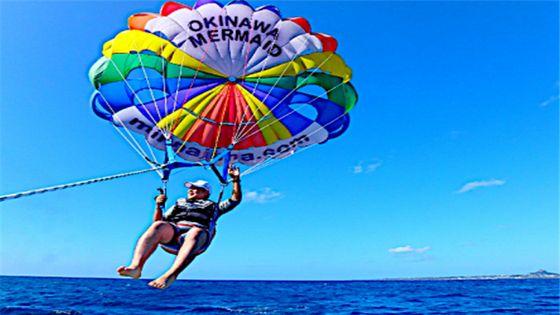 【GoTo35%OFF】【沖縄・水納島】Bプラン水納島海水浴+体験ダイビング♪♪orパラセーリング♪♪