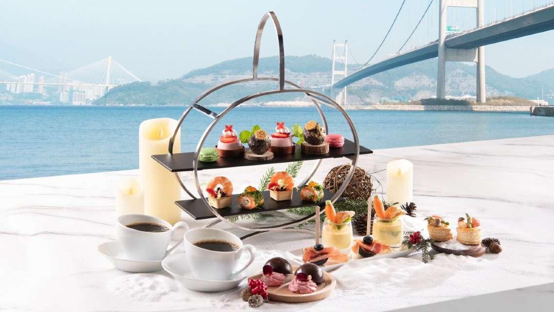 香港挪亞方舟度假酒店豐盛閣餐廳戀之冬日海景雙人下午茶 (85折優惠)