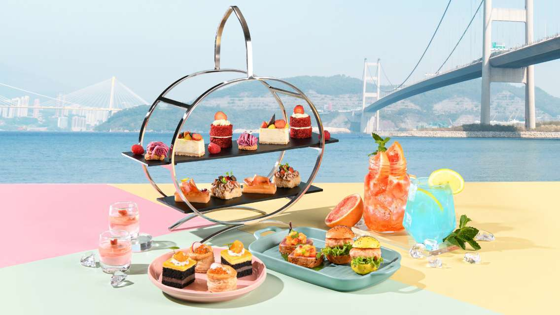 "Noah's Ark Hotel & Resort ""Harvest Restaurant"" Light Summer Palette Seaview Afternoon Tea Set for 2 (Up to 15% off)"