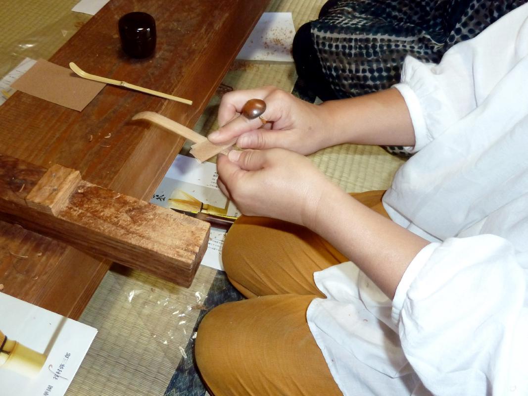 茶杓作り 職人から学ぶ工芸体験 茶席でのお抹茶・お菓子付 <高山町>