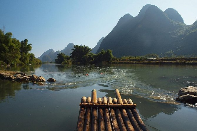 One Day Yangshuo Bamboo Rafting and Authentic Ancient Towns Private Tour