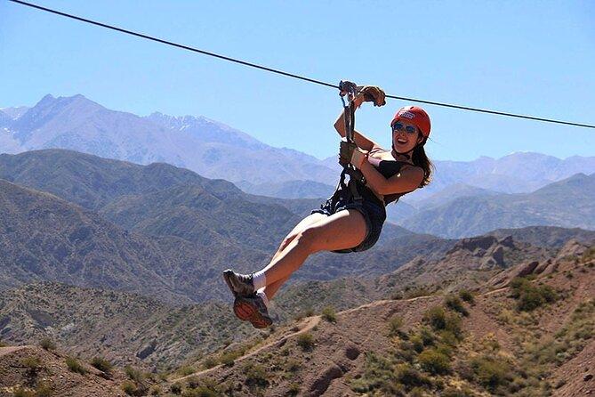 Zipline Adventure from Mendoza in Potrerillos Valley