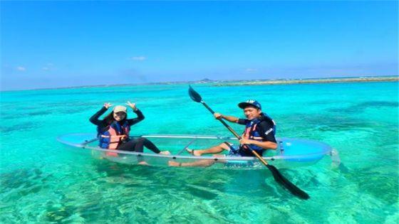 【GoTo35%OFF】【沖縄・水納島】Cプラン水納島海水浴 + クリアカヤック♪orSUP♪