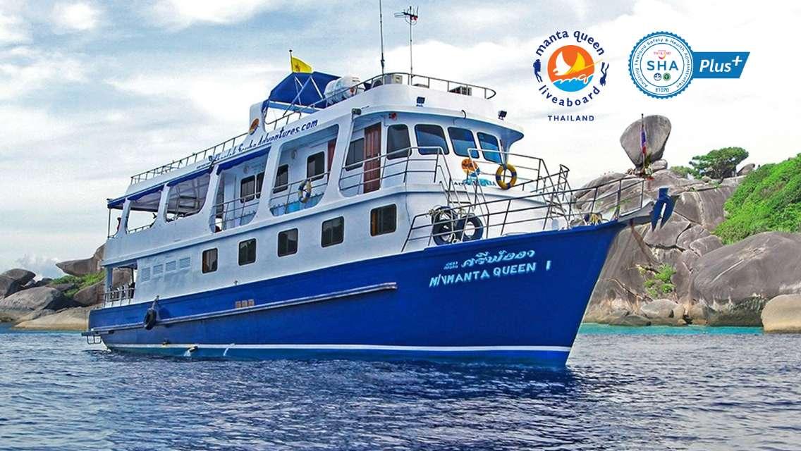 [Manta Queen 1 Liveaboard 6 Days/5 Nights] Similan Islands + Surin Islands + Thacha Island, Phuket (Licensed Scuba/Diving)