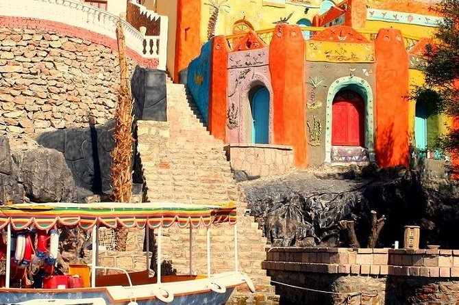 From Aswan: Philae Temple & Motorboat Tour to Nubian Village - 1 Day