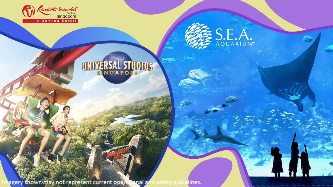 Universal Studios Singapore & S.E.A. Aquarium™ Daycation Package (Exclusive Gift Available) - Advance reservation required (Only for Singapore Residents)