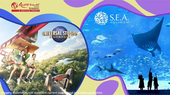 Universal Studios Singapore & S.E.A. Aquarium™ Daycation Package (Exclusive Gift Available) - Advance reservation required