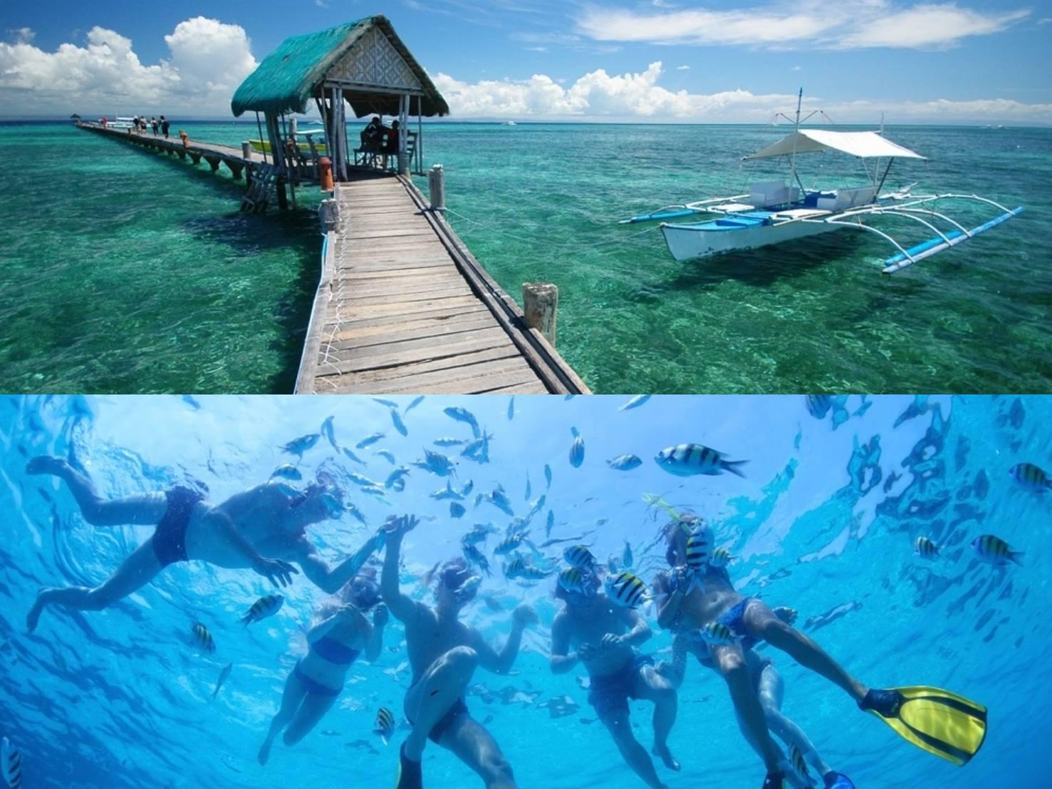 【アイランドホッピング】絶景ナルスアン島&ヒルトゥガン島の2島巡り!海洋保護区シュノーケリング