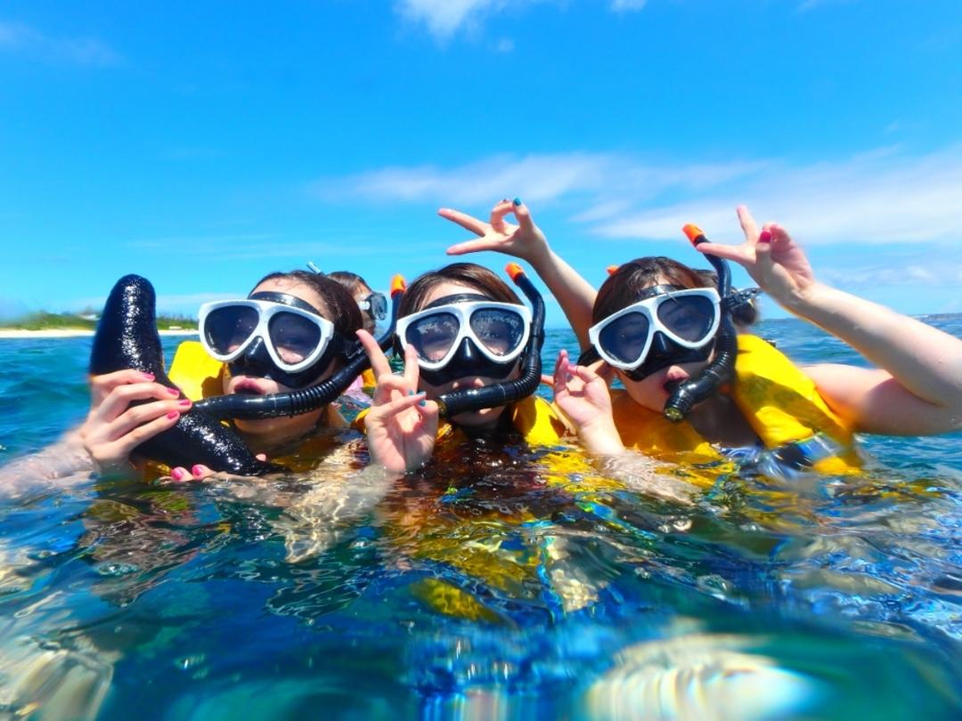 【沖縄・水納島】大満足!!マリンスポーツが3つ選べる!!水納島海水浴&シュノーケル&マリンスポーツ☆ランチ付【Sプラン】