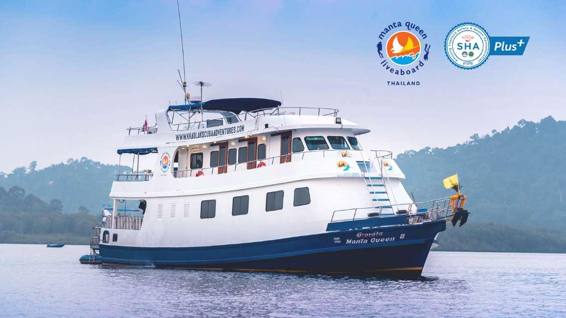 Licensed Diving 4-Days/3-Nights Manta Queen 2 Liveaboard: Similan Islands, Surin Islands, Phang Nga Bay Port, Phuket