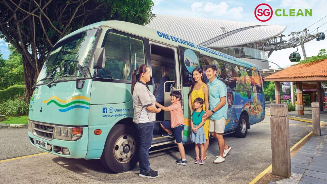 Sentosa Bus Half Day Tour with Cable Car Ride and Set Lunch at Arbora
