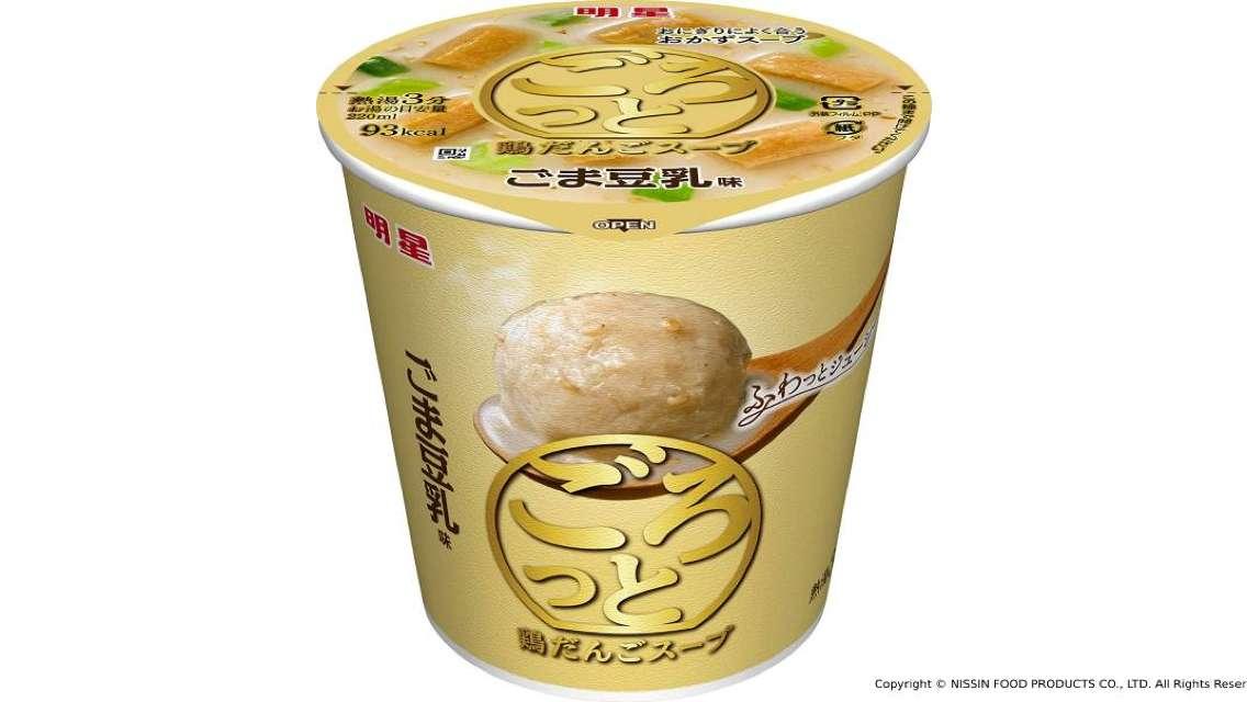 【日本直送】日清食品明星雞肉丸湯 - 芝麻豆乳味 (6個)