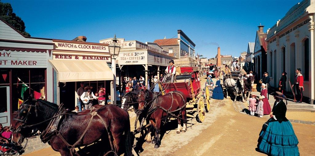 墨爾本包車 - 復古淘金行+黃金博物館+聖安娜酒庄+羊駝農場+疏芬山金礦一日遊(中文司導講解)