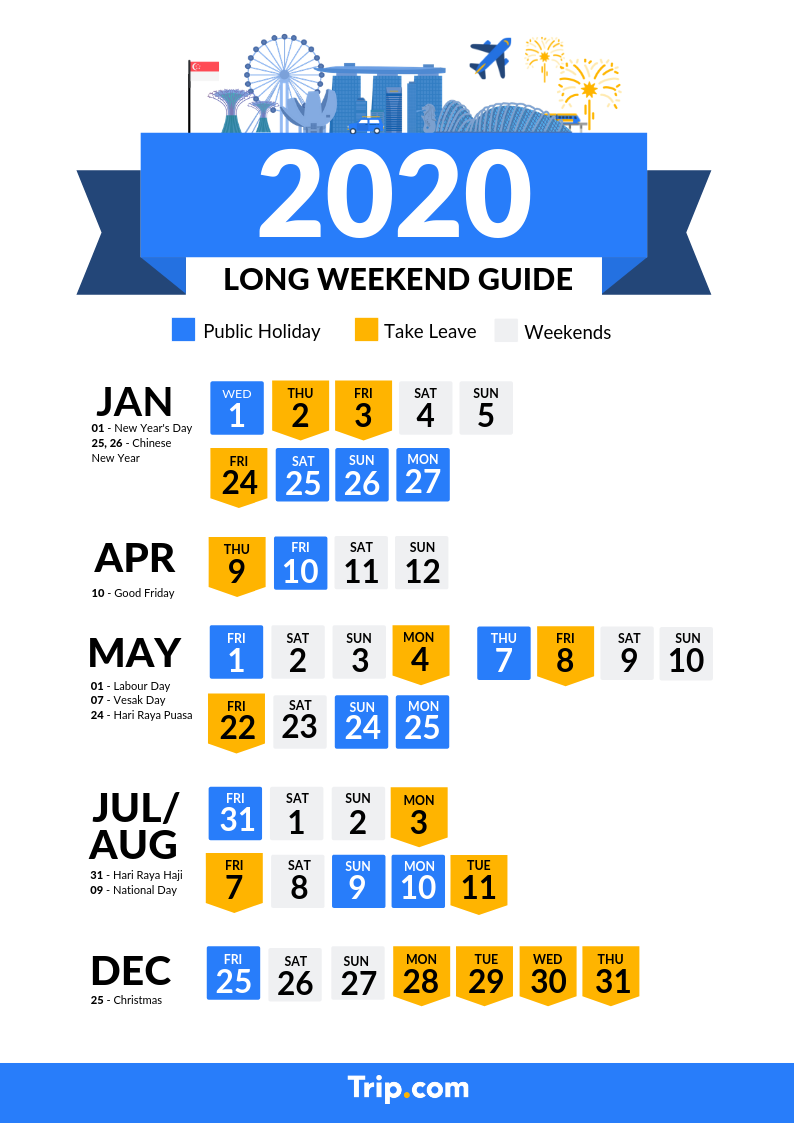 Singapore 2020 Public Holidays And Long Weekend Calendar Travel Notes And Guides Trip Com Travel Guides