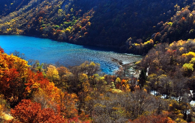 Touring Around Jiuzhaigou, Enjoying The Scenery Of West Sichuan In The Colorful Forests Of Heishui.