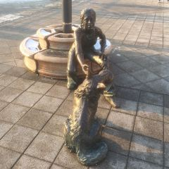 Girl With Her Dog Statue User Photo