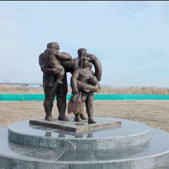 대련 100주년 기념 동상 여행 사진