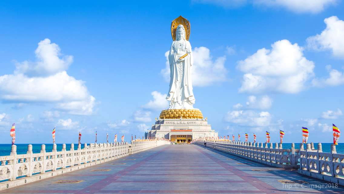 Sanya Nanshan Cultural Tourism Area + Tianya Haijiao Ticket Special Car Chartered Car One Day Tour