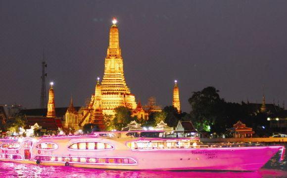 曼谷 夜遊湄南河船票+自助晚餐(可選璀璨明珠/大珍珠/公主號/白蘭花/婉筏號/昭帕耶號)