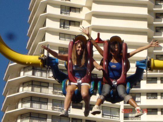 Sling Shot & Vomatron Amusement Rides Gold Coast