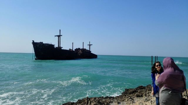 希臘貨船殘骸