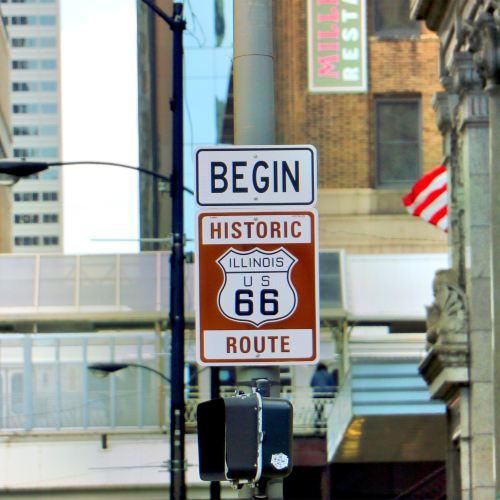 Historic Rt 66 Begin Sign
