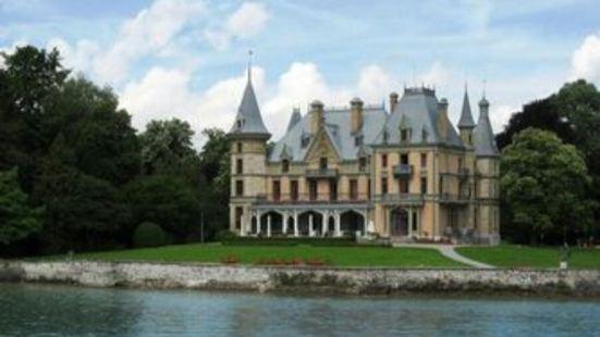 沙道公园与城堡,位于伯尔尼附近的图恩镇中心,历史悠久的古城堡