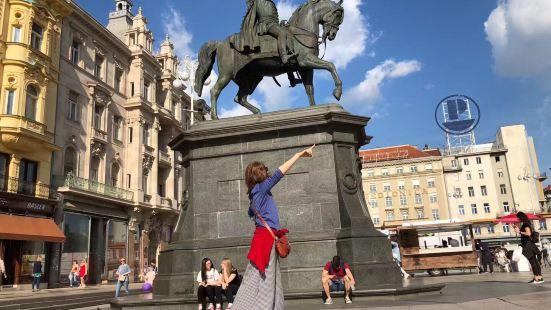 克罗地亚首都萨格勒布市街拍。2019年6月跟团旅游。到达克罗