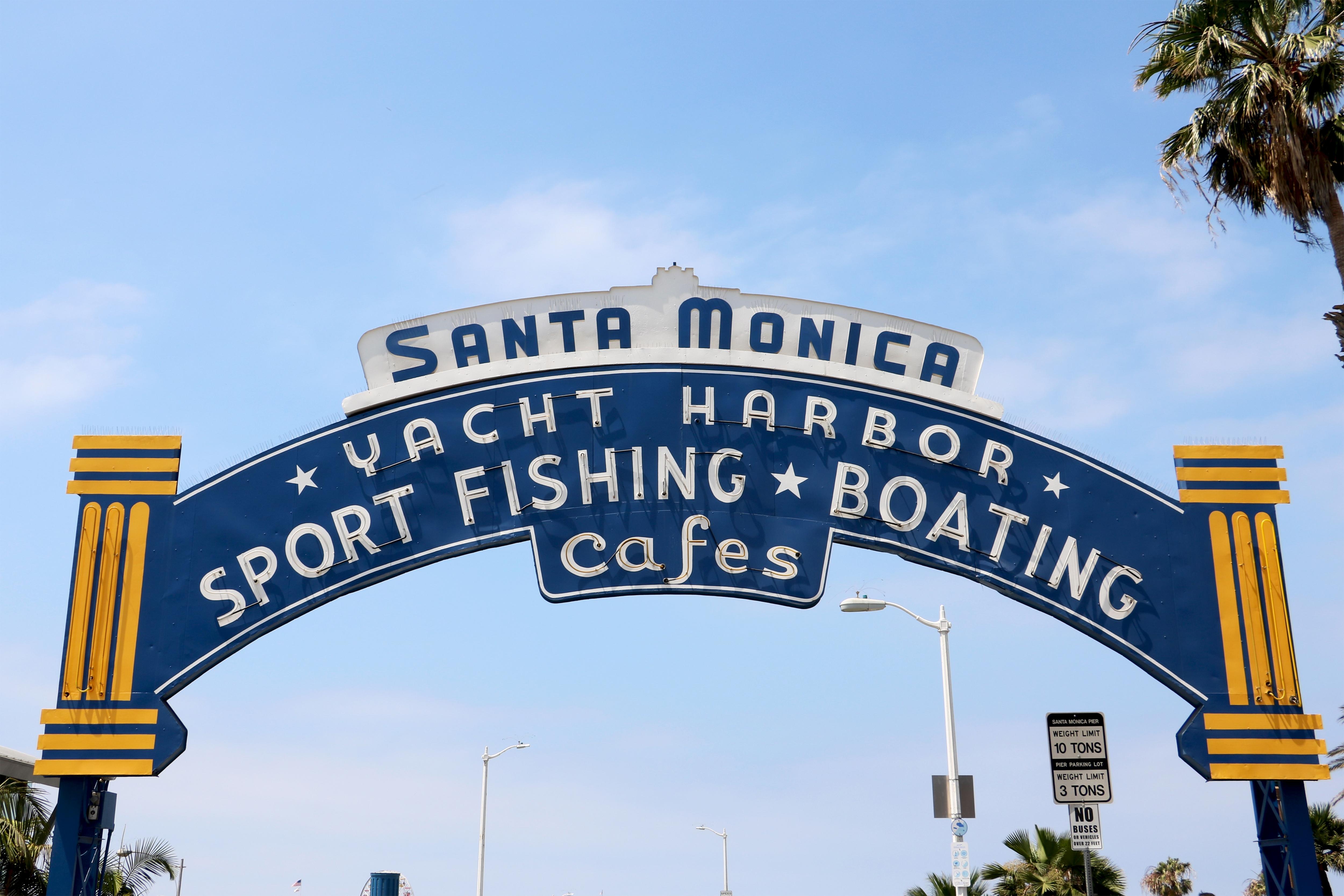 Santa Monica Yacht Harbor Sign