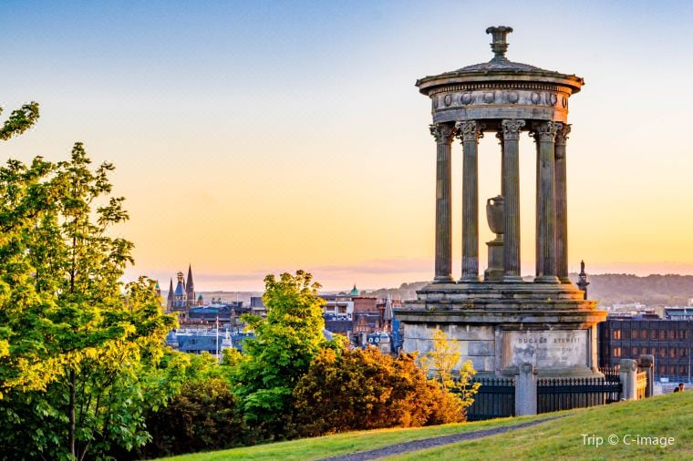 Panoramic Views Of The Whole City Edinburgh From Calton Hill